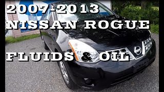 What you should know about Nissan Rogue Fluids and oil 2007-2013