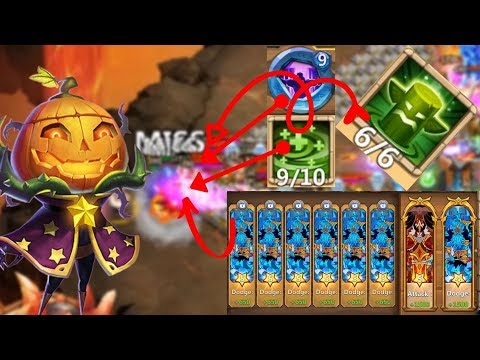 Pumpkin Duke | Full Dodge | 6/6 Healing Ritual | Castle Clash