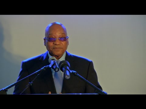 President Jacob Zuma addresses the African Business Leaders Forum