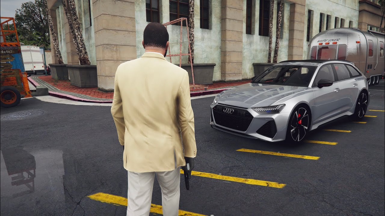 ⁴ᴷ⁶⁰ GTA 5 NaturalVision Evolved ► 2020 Audi RS6 ✪ RAY TRACING MOD Gameplay | GEFORCE RTX™2080 Ti