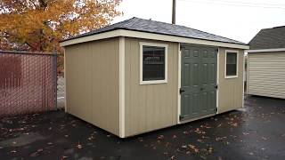 10'x16' Hip Roof Shed At Backyard Unlimited