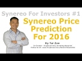 Synereo For Investors #01 - Synereo Price Prediction For 2016 - By Tai Zen
