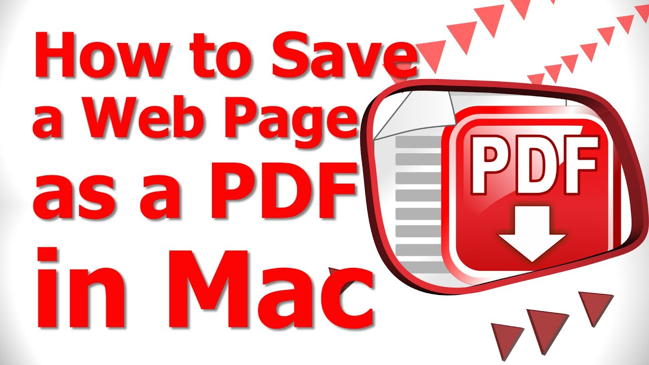 How To Webpage As Pdf Mac