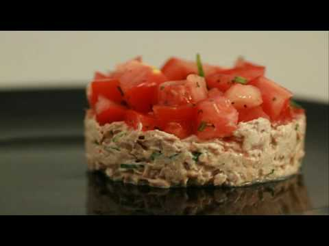 recette-:-tartare-de-tomates-aux-rillettes-de-thon
