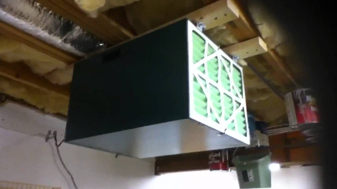 Grizzlyu0027s Air Filtration Unit For Basement Workshop
