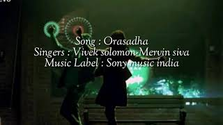 Orasadha song lyrics english translation