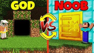 Minecraft Battle: NOOB vs GOD: SWAPPED BUNKER CHALLENGE / Animation