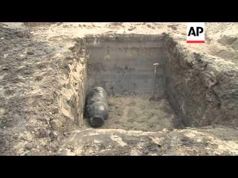 German World War II bomb destroyed