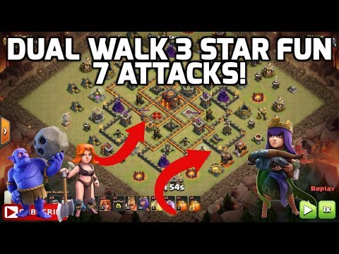 Clash of Clans: DUAL WALK 3 STAR STRATEGY. 7 ATTACK REPLAYS | Mister Clash Gaming