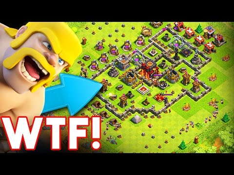 THE WORST BASE EVER  - Clash of Clans  - DESTROYING BAD BASES