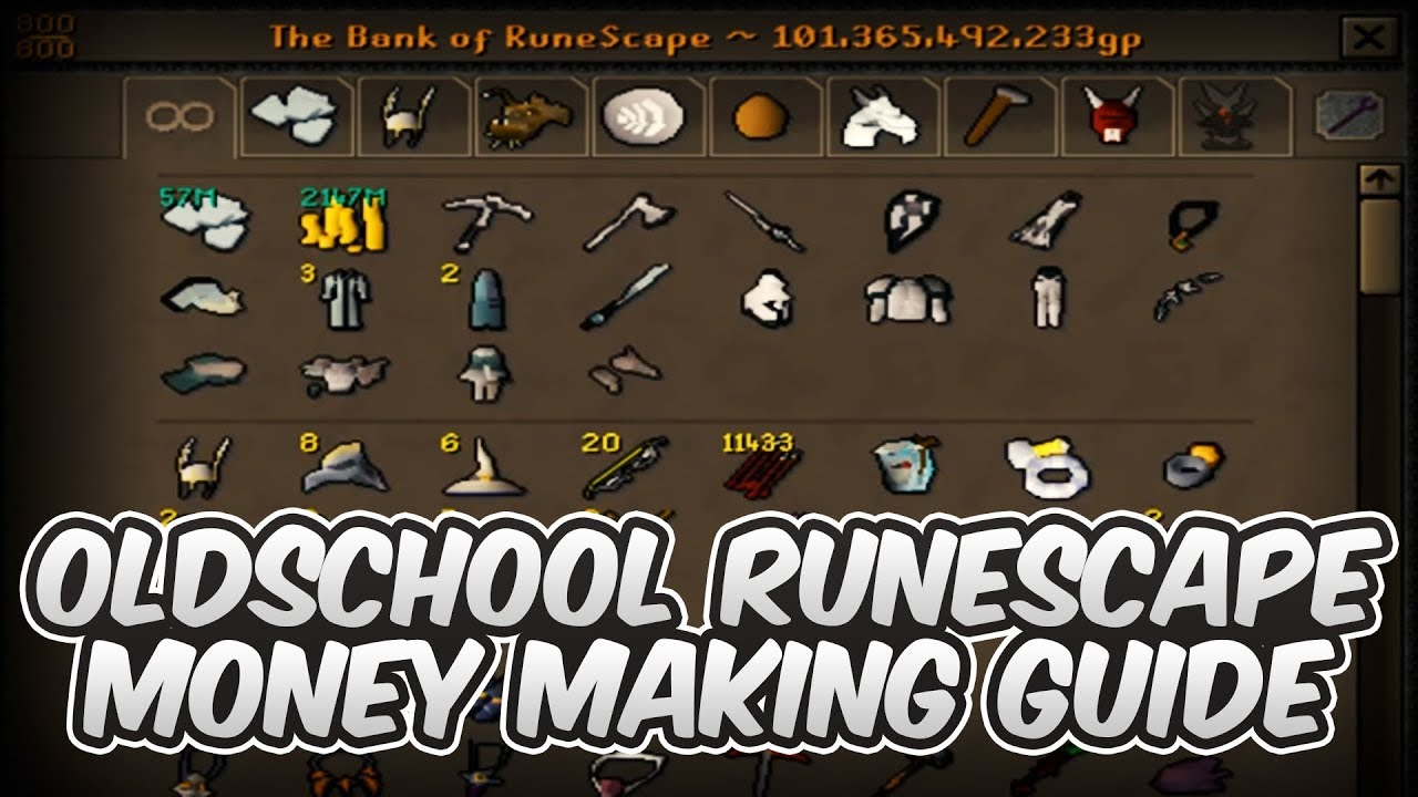 OSRS | The Ultimate Money Making Guide - 2019 (FUTURE PROOF)