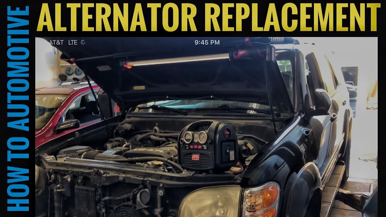 How to Replace the Alternator on a 2000-2007 Toyota Sequoia with 4.7L Toyota Sequoia Alternator Wiring Diagram on isuzu hombre wiring diagram, toyota sequoia spark plugs, toyota sequoia oil filter, mercury milan wiring diagram, toyota sienna wiring-diagram, toyota land cruiser wiring-diagram, 2004 toyota sequoia parts diagram, 2003 toyota sequoia fuse box diagram, toyota sequoia alternator, toyota sequoia radio, subaru baja wiring diagram, 2007 toyota sequoia fuse box diagram, toyota sequoia ignition coil, kia forte wiring diagram, dodge truck wiring diagram, toyota sequoia exhaust, toyota sequoia lights, dodge dakota wiring diagram, lexus gx wiring diagram, saturn aura wiring diagram,