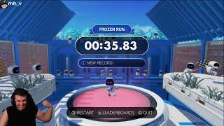 Astro's Playroom Frozen Run in 35.83 World Record! Speedrun [PS5]