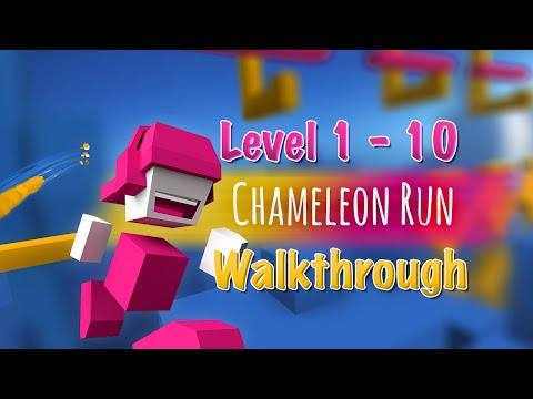 Chameleon Run - BEAT 10 LEVELS IN RECORD TIME! Chameleon Run App Gameplay Level Walkthrough