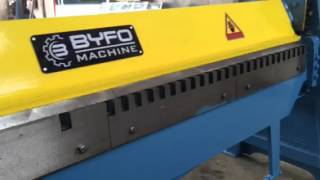 Nanjing BYFO Half TDF & sheets hand folder sheet metal manual bending machine