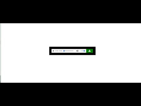 how to make your own audio player in html file