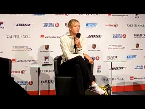 Maria Sharapova Press Conference after match in Stuttgart Germany 2014
