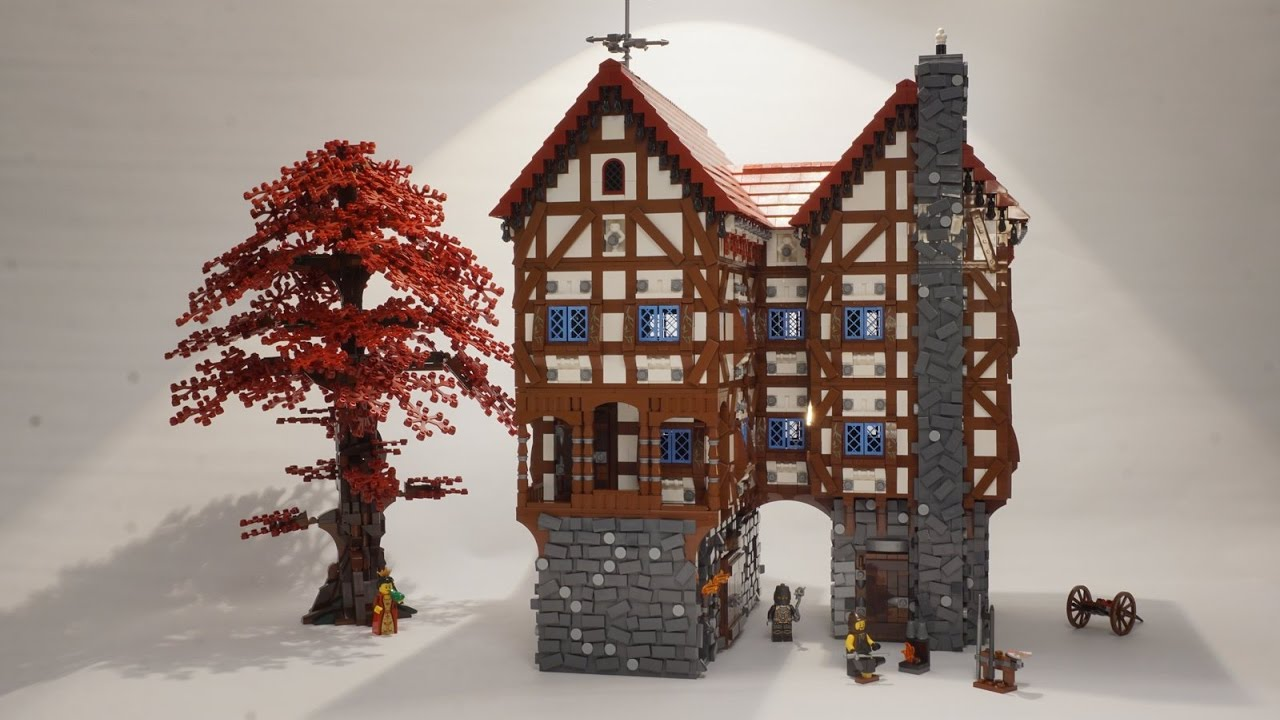 Lego Medieval House lego medieval layout - wip - part 2 (more city buildings) - youtube