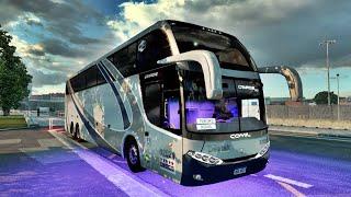 """Mod Bus : Comil Campione HD Mercedes Benz 6x2 - by Coringa /Canal Ródha Games : Adaptação de Skins BR e Sound, """"Nas Versões 1.39, 1.40,"""" """"Compre"""" """"Motor"""" """"OM-471""""...ou...""""OM-473""""... Link Bus : https://sharemods.com/71j7vehksrhh/Bus_Campione_HD_MB_6x2_ETS2_1.40.rar.html Mapa : Original SCS. Game : Euro Truck Simulator 2 - v.1.40.0.96 Public Beta."""