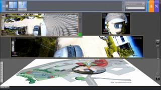 Демонстрация работы панорамной видеокамеры(Сетевая камера, 360°, 5 Мпикс., день/ночь 1/2,5