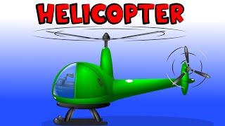 Hubschrauber | Autos Cartoon | Bau-Spiel -, Bildungs-video - | Montage-Hubschrauber