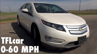 2014 Chevy Volt 0-60 MPH & Hot Lap Leader Board Review