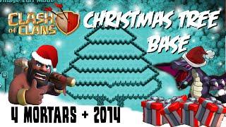 Clash Of Clans Christmas Tree Base Town Hall 9 4 Mortars (2014)