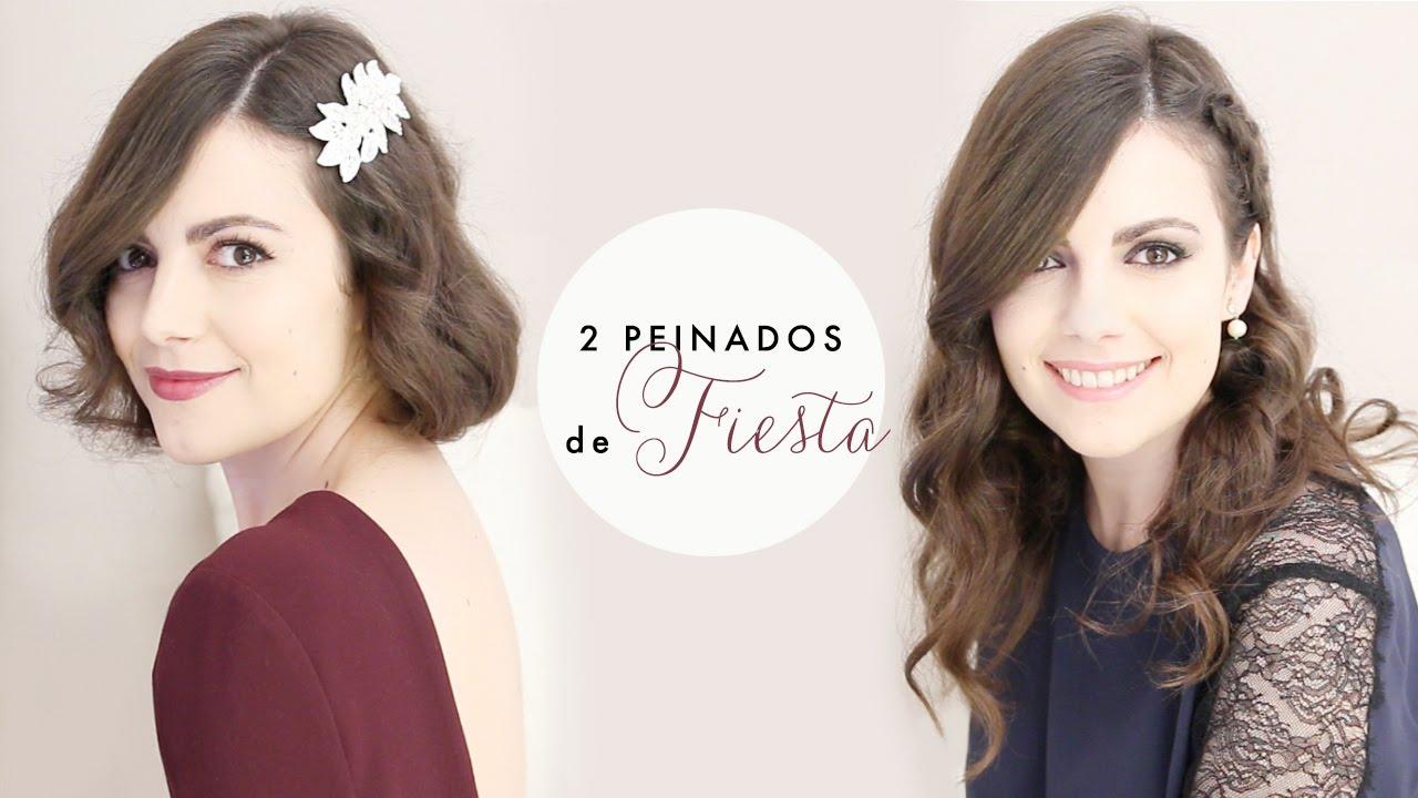 2 Peinados Faciles De Fiesta Para Nochevieja Youtube