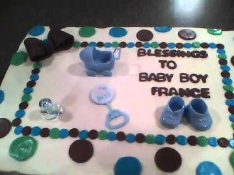 Baby Shower Sheet Cake   YouTube