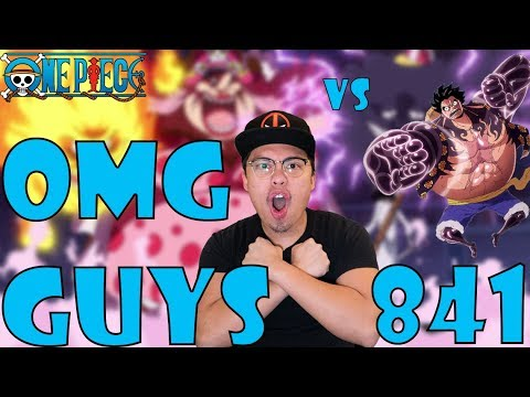 One Piece Episode 841 Reaction and Review! LUFFY VS BIG MOM! THE POWER OF A YONKO!