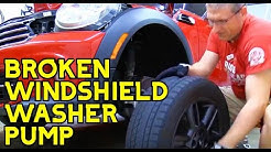 How To DIY Replace a Windshield Washer Pump on a MINI COOPER YOURSELF.
