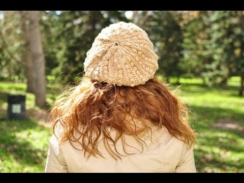 How to knit a Beret with regular needles -  Free Knitting Pattern Tutorials