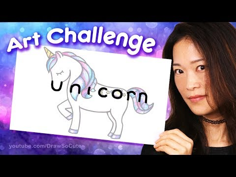How to Turn the Word UNICORN into a Cartoon - Fun Art Challenge