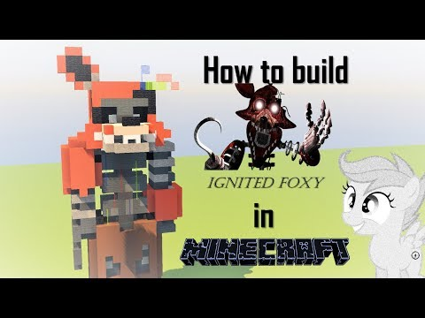 Minecraft | How to Build: IGNITED FOXY  [From The Joy of Creation] | BUILD IT ► S!P