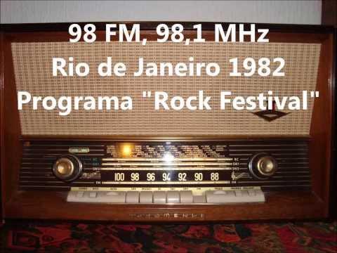"""Rádio 98 FM - 98,1 MHz, Rio de Janeiro - 1982 Programa """"Rock Festival"""""""