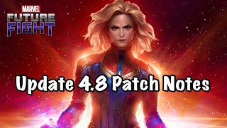 Update 4.8 Patch Notes !! New Characters, New Uniforms New CTPs | Marvel Future Fight