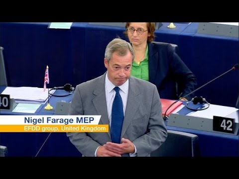 Brexit battlers Farage and Verhofstadt butt heads at State of the Union speech