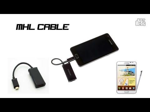 MHL Micro USB To HDMI Adapter Cable Phone To TV/подключаем телефон к телевизору
