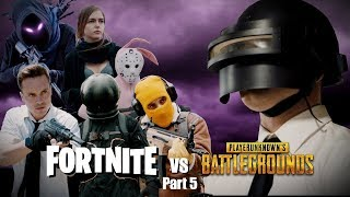 FORTNITE vs PUBG #5 Вторжение в мир Fortnite