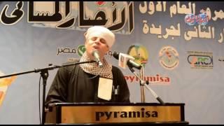 المنشد الدينى محمود ياسين التهامى فى احتفالية الأخبار المسائى