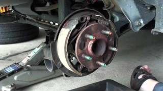 Replacing Drum Brake Shoes Part 2 - Ericthecarguy