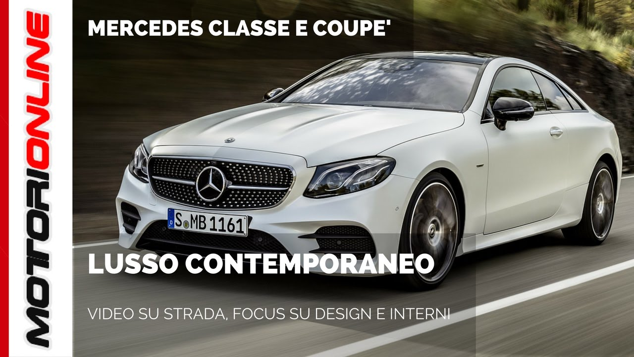 nuova mercedes classe e coup video su strada design e. Black Bedroom Furniture Sets. Home Design Ideas