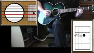 Right Here Waiting - Richard Marx - Acoustic Guitar Lesson (easy-ish) - (detune by 1 fret)
