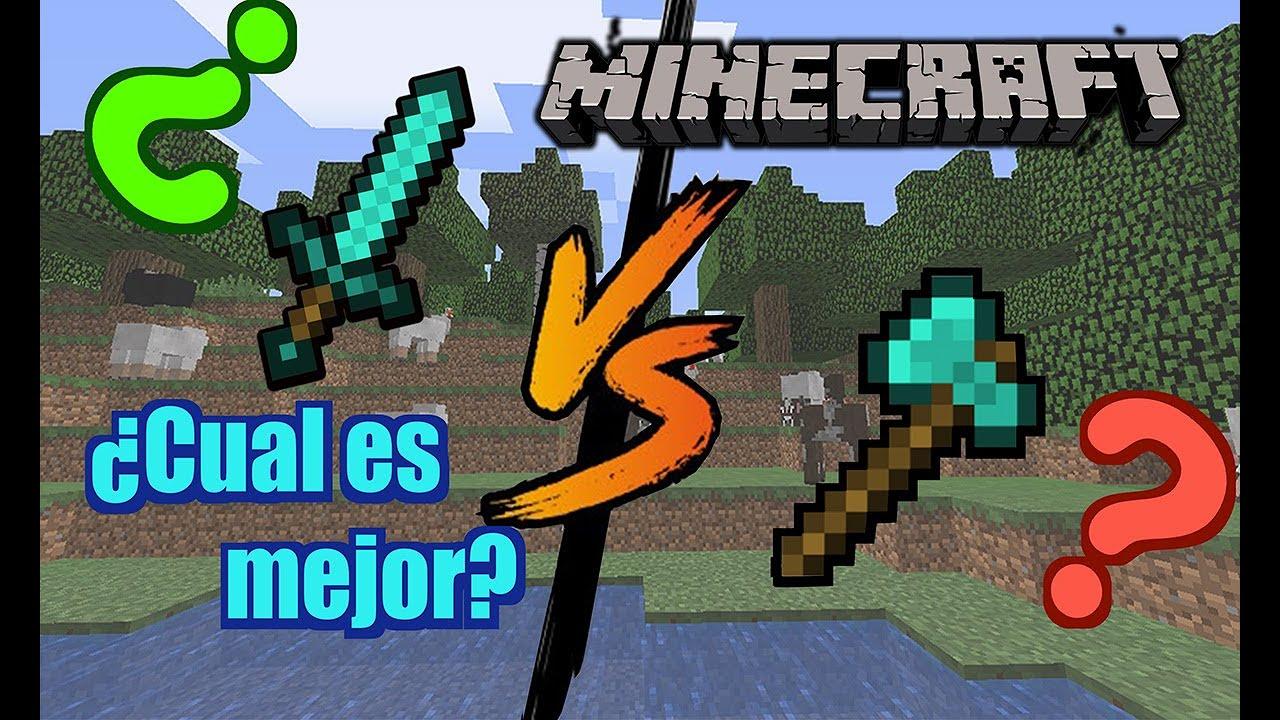 Espada vs hacha minecraft ¿cual es mejor?|Original