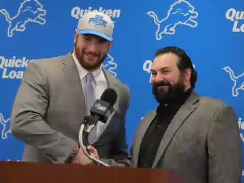 Detroit Lions Fans freaking out over First Round Draft pick Center Frank Ragnow!!!!