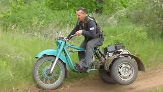 мотоцикл Урал привод колеса ВАЗ 2109 самоходка из мотоблока легко сделать в гараже