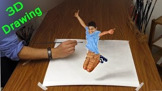 Drawing in 3D / How to paint AMAZING TRICK ART/  dibujar bien paso a paso