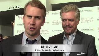 Will Bakke, Christopher McDonald and Alex Carroll of BELIEVE ME