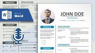 Microsoft Word | CV Tasarım Öğretici Basit ve Profesyonel bir Özgeçmiş Oluşturmak için nasıl (Vokal İle)