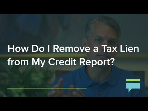 How Do I Remove a Tax Lien From My Credit Report? – Credit Card Insider
